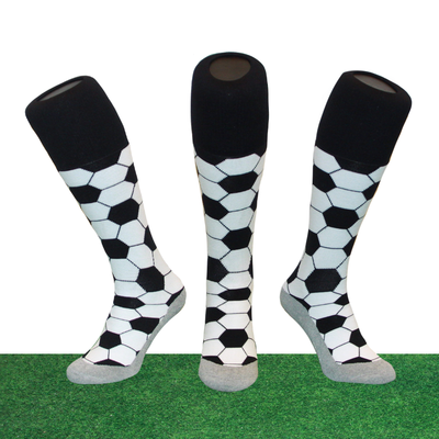 Hockeysokken Voetbal Zwart/Wit