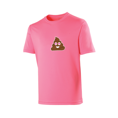T-Shirt Poep Emoji Roze
