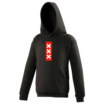 Hooded sweater Amsterdam Zwart