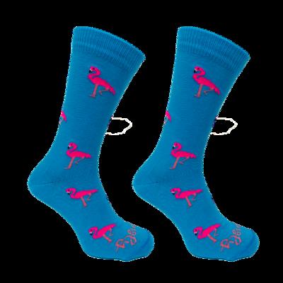 Held op Sokken Flamingo Blauw