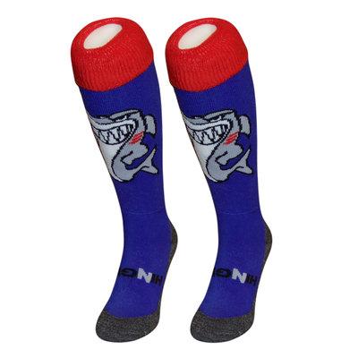 Hockeysokken Haai Blauw/Rood