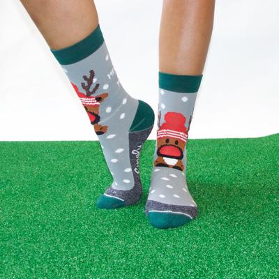 Rudolf grey crew socks