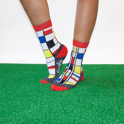 Mondriaan crew socks