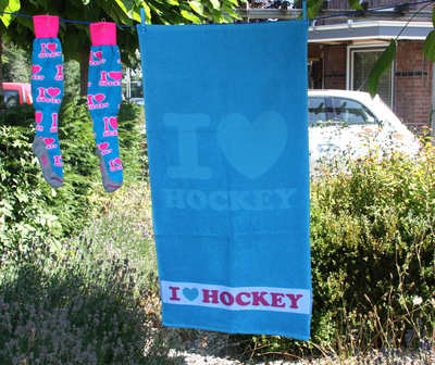 Handdoek I love Hockey