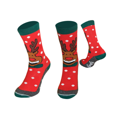 Rudolf red Crew socks