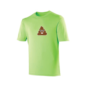 T-shirt Poep Emoji Groen