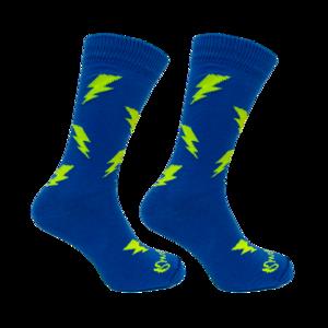 Held op Sokken Bliksem Blauw