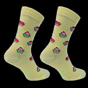 Sokken Cupcakes Geel