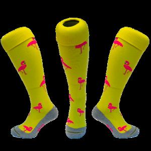 Hockeysokken Flamingo Geel