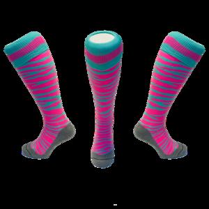 Hockeysokken Zebra Roze/Mint