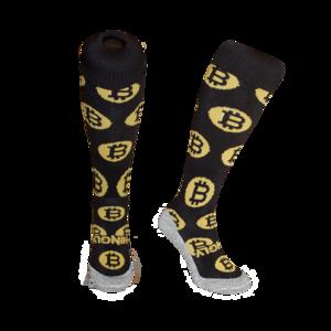 Hockeysokken Bitcoin Zwart
