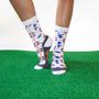 Delfts Blue crew socks