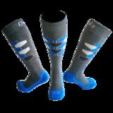 Skisokken Hexagram Grijs/Blauw_