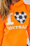 Trui I Love Voetbal Fluor Oranje_