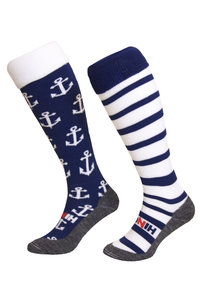 Hockeysokken Anker Wit/Blauw