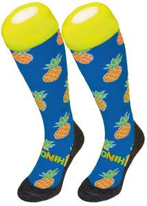 Hockeysokken Ananas Blauw