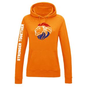 Hooded sweater Oranje Dames