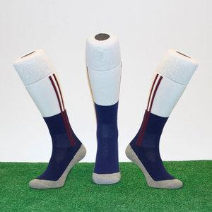 Hockeysokken 2 Stripe Bordeaux/Blauw/Wit