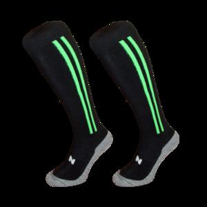Hockeysokken 2 Stripe Groen/Zwart
