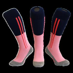 Hockeysokken 2 Stripe Roze/Blauw