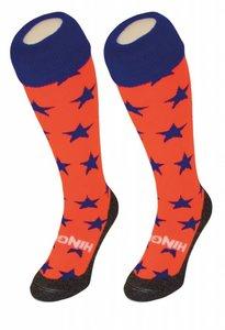 Hockeysokken Sterren Oranje/Blauw