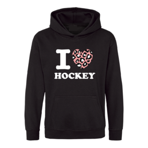 Trui I Love Hockey Zwart Panter Roze