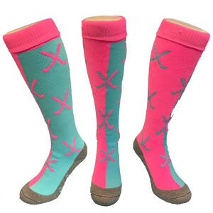 Crossed sticks Blue-Pink