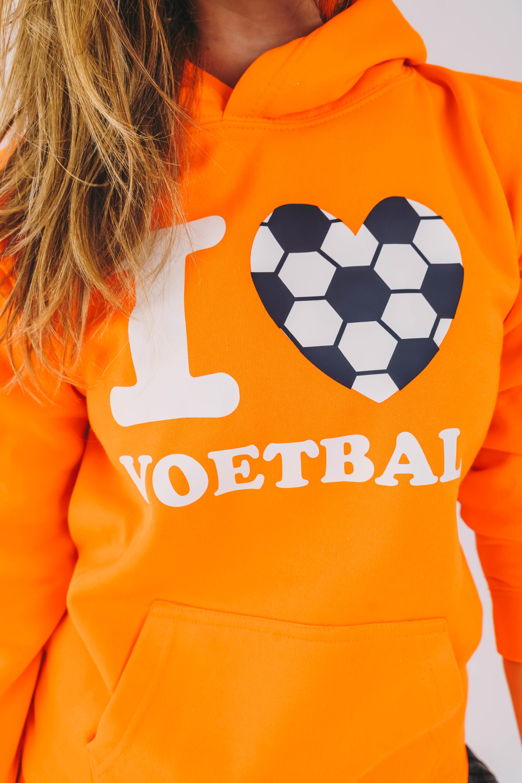 Trui I Love Voetbal Fluor Oranje